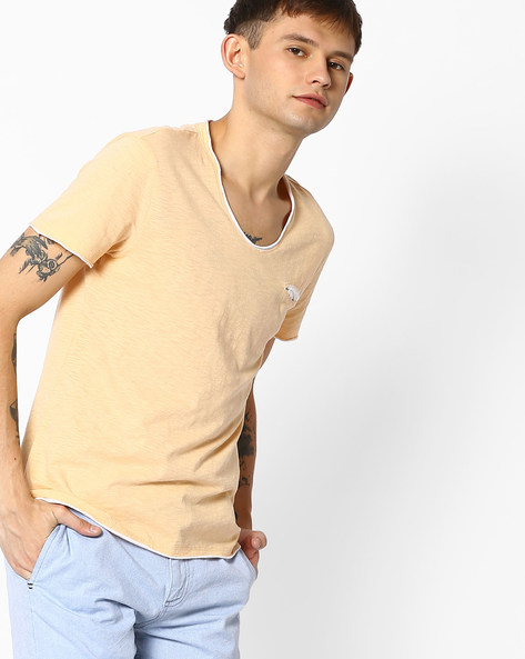 Slim Fit Crew-Neck T-shirt By GAS ( 1452 )