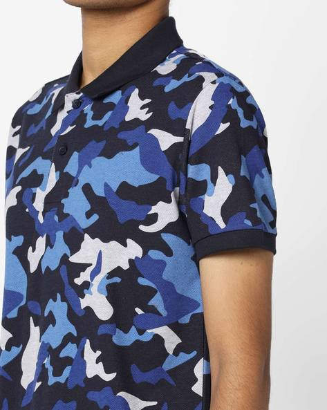 Camo Print Polo T-shirt By UNITED COLORS OF BENETTON ( Multicolor )