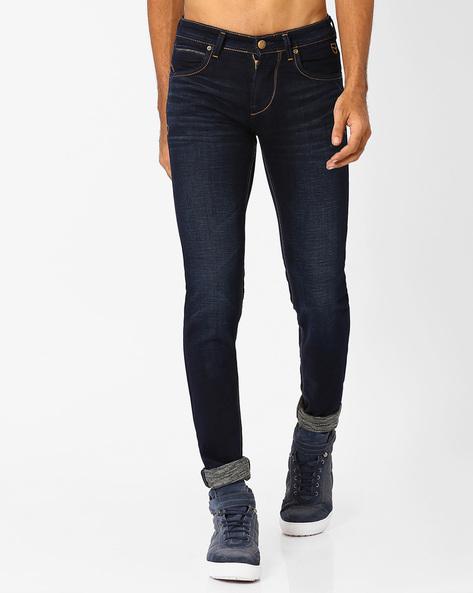 Lightly Washed Slim Fit Jeans By Killer ( Indigo ) - 460025962002