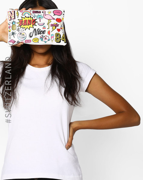 Graphic Print Wristlet By TALLY WEiJL ( White )