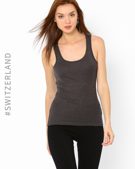 Knitted Tank Top By TALLY WEiJL ( Grey )