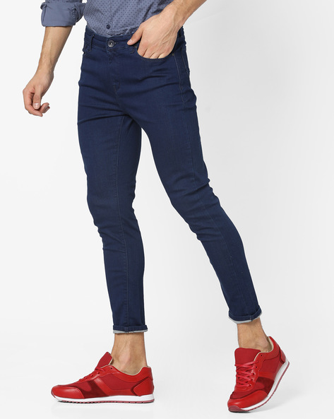 Skinny Fit Ankle-Length Jeans By SPYKAR ( Blue )