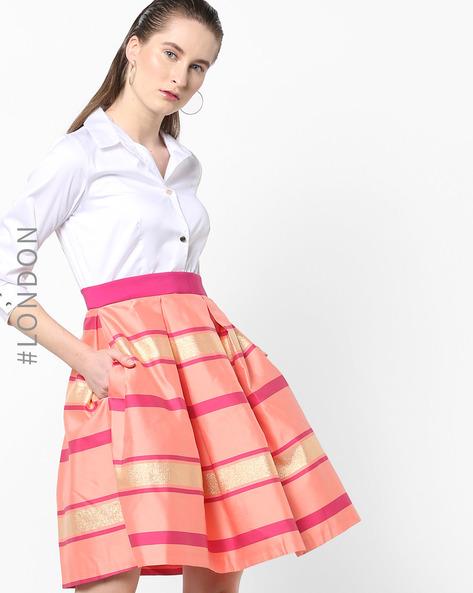 Colourblock Striped Shirt Dress By Closet London ( Multi )