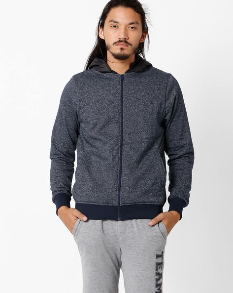 Quilted Regular Fit Grindle Sweatshirt By TEAM SPIRIT ( Blue )