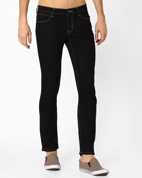 Low-Rise Tapered Skinny Jeans By Lee ( Blue )
