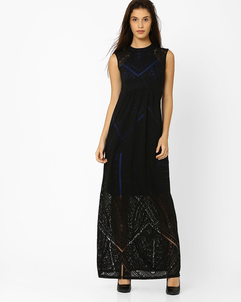 Burnout Maxi Dress By And ( Black )