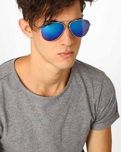Aviator Sunglasses By ALPHA MAN ( Blue )