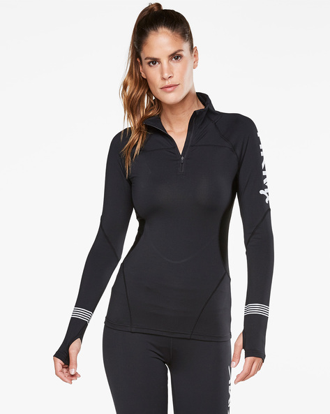 Panelled Running Top With Thumbhole By Hunkemoller ( Blk )