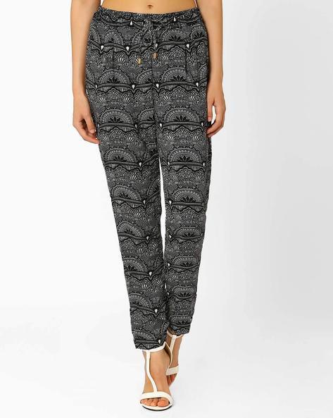 Floral Print Track Pants By AJIO ( Black )