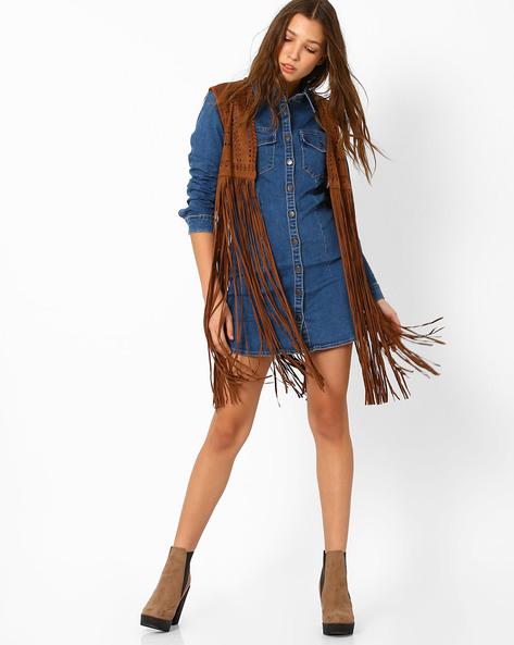 Denim Shirt Dress By Glamorous ( Indigo )