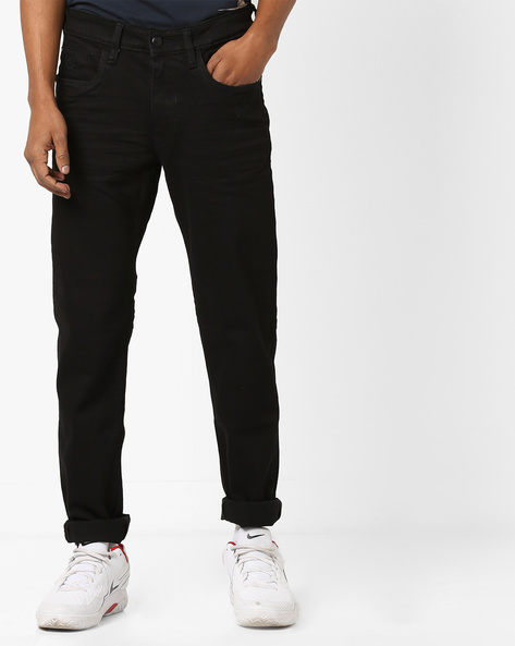 Brandon Mid-Rise Slim Fit Jeans By US POLO ( Black )