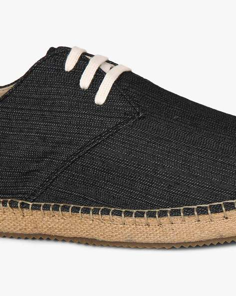 Lace-Up Espadrilles By Hats Off Accessories ( Navy )