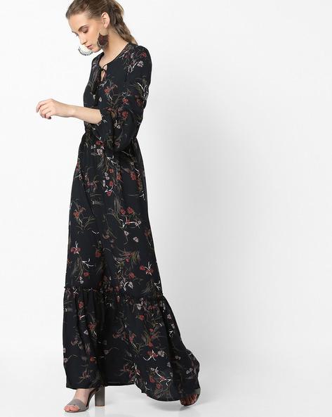 Floral Print Maxi Dress By Tokyo Talkies ( Multi )