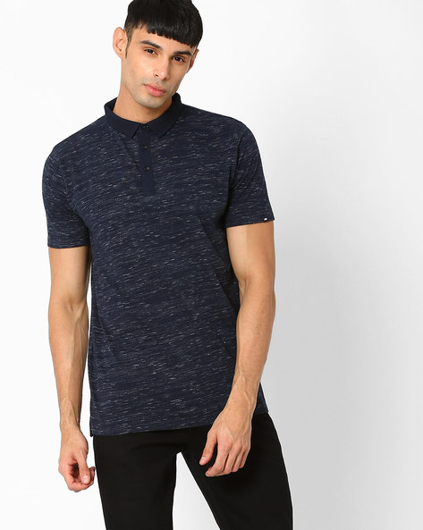 Muscle Fit Polo T-shirt By BASICS ( Navy )