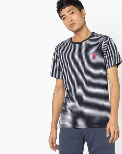 Striped Crew-Neck T-shirt By US POLO ( Assorted ) - 460157702001