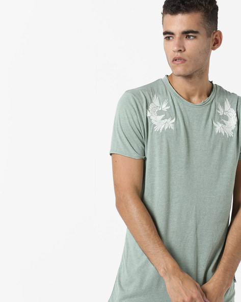 Crew-Neck Slim Fit T-shirt By Jack & Jones ( Green )