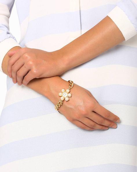 Linkage Chain Bracelet By Style Fiesta ( Gold )