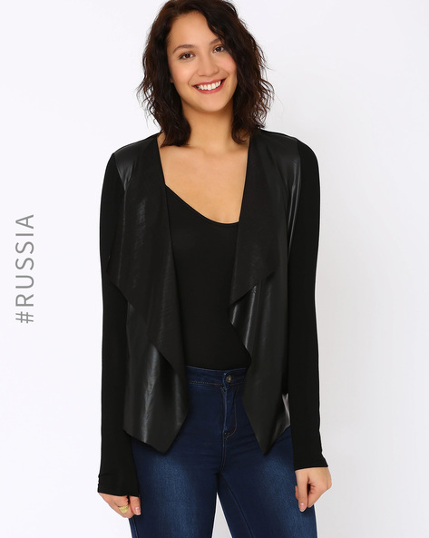Waterfall Shrug By Kira Plastinina ( Black )