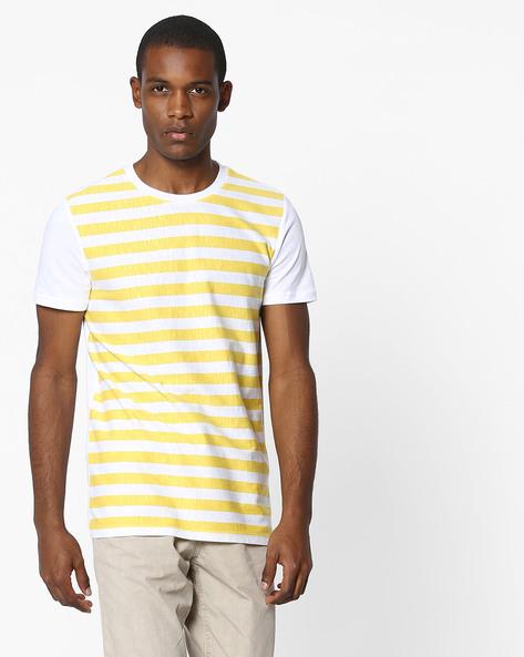 805bd3f299 United Colors Of Benetton Multi Color Striped Crew Neck T Shirt ...