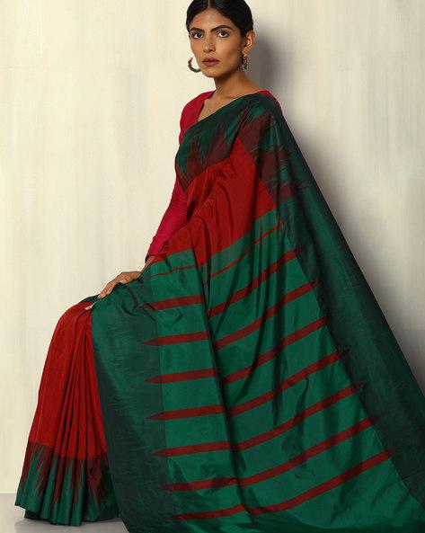 Kadiyal Temple Border South Silk Saree By Pretty Woman ( Maroon )