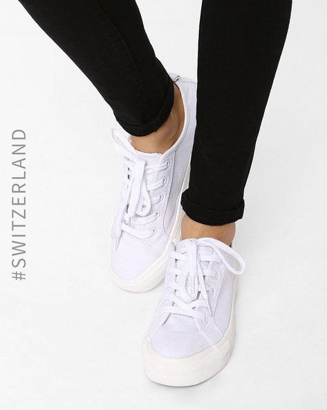Lace-Up Casual Shoes By TALLY WEiJL ( White )