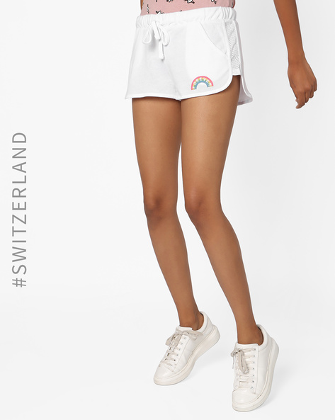 Shorts With Waist Tie-Up By TALLY WEiJL ( White )