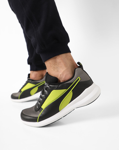 Running Shoe With Lace-Up By Puma ( Black )