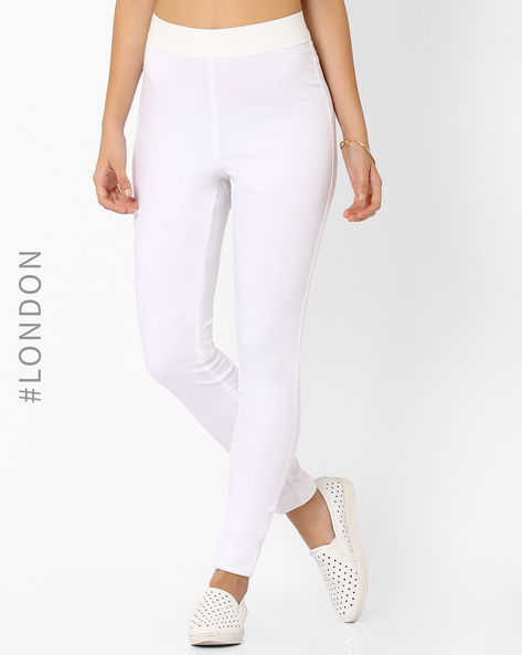 High-Waist Jeggings By Marks & Spencer ( White )