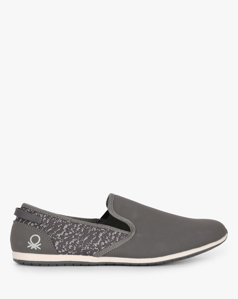 Panelled Slip-On Shoes With Mesh Quarter By UNITED COLORS OF BENETTON ( Grey )