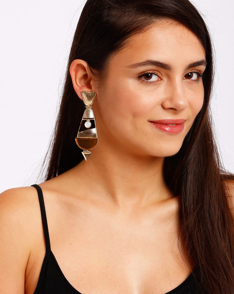 Gold-Plated Drop Earrings By Ssoul ( Yellow ) - 460008517002