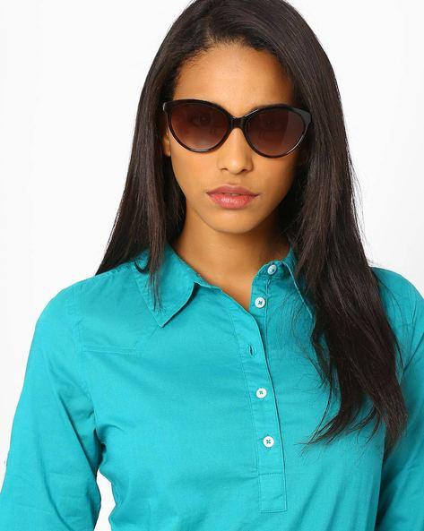 UV Protected Cat-Eye Sunglasses By Joe Black ( Multi )