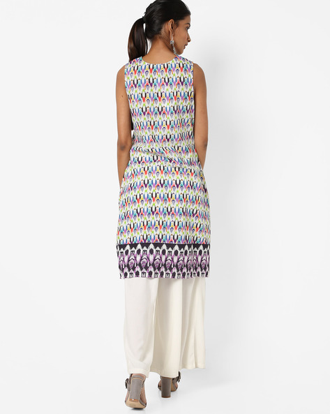 Abstract Print Shift Dress By Rain & Rainbow ( Green )