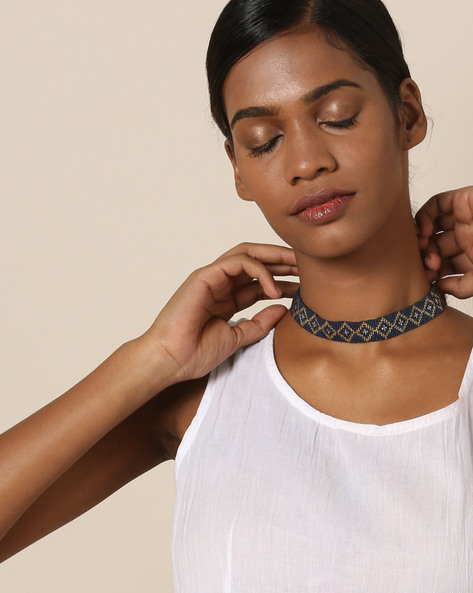 Beaded Choker Necklace By Indie Picks ( Multi ) - 460121416001