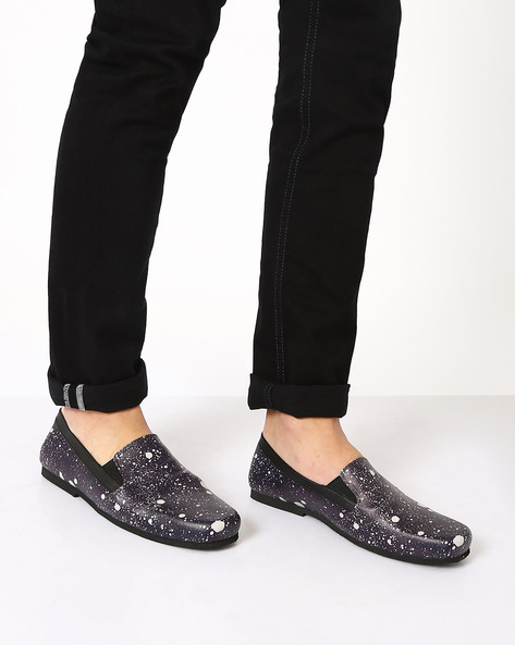 Speckled Slip-On Shoes By Funk ( Black )