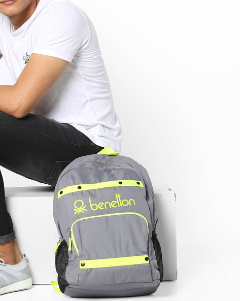 Laptop Backpack With Contrast Taping By UNITED COLORS OF BENETTON ( Grey )