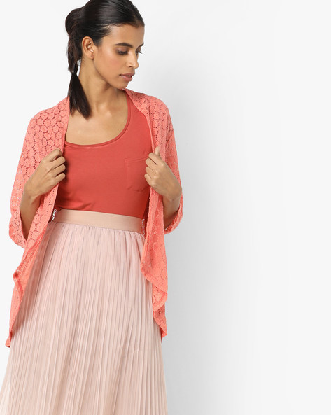 Open-Front Lace Shrug By And ( Multi )