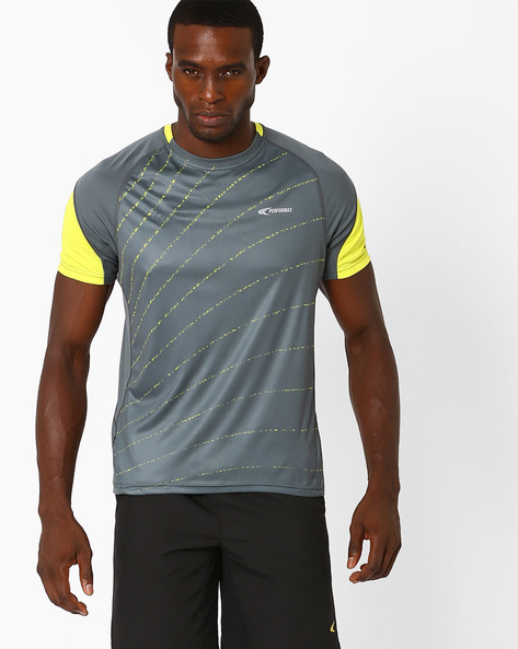 Reflective Running T-shirt With Quick Dry By PERFORMAX ( Charcoal )