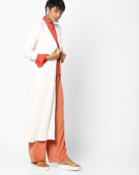 Open-Front Longline Shrug By Project Eve WW Work ( White )