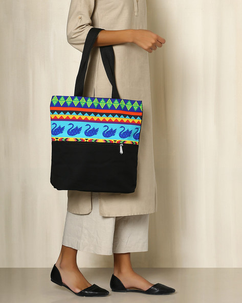 Digital Print Tote Bag By All Things Sundar ( Multi )