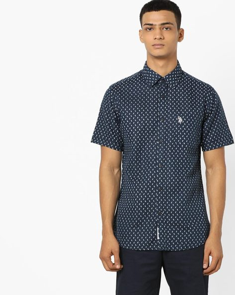 Paisley Print Shirt With Patch Pocket By US POLO ( Assorted )