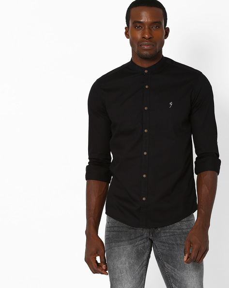 Slim Fit Mandarin Collar Shirt By Killer ( Assorted )