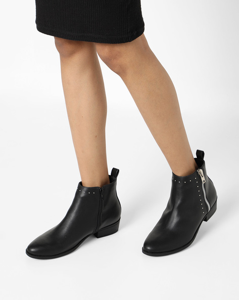 Ankle-Length Boots With Embellishments By Truffle Collection ( Charcoalblack )