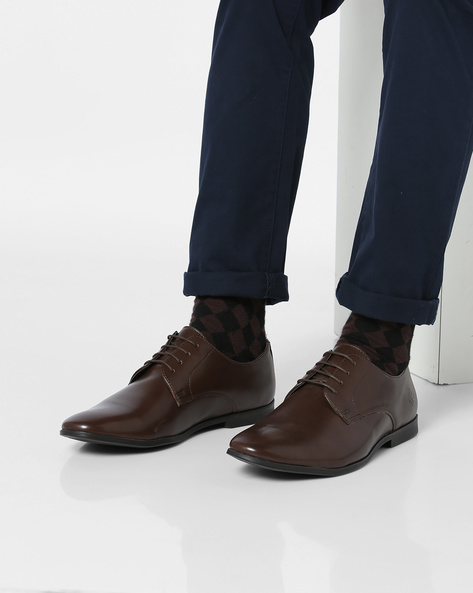 Lace-Up Derby Shoes By Bond Street By Red Tape ( Brown )