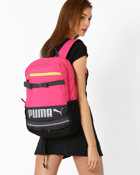 Colourblock Deck Backpack By Puma ( Fuchsia )