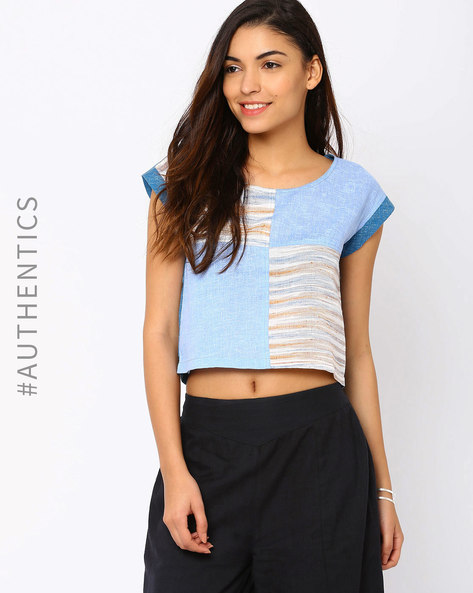 Khadi Top By Red Sister Blue ( Blue )