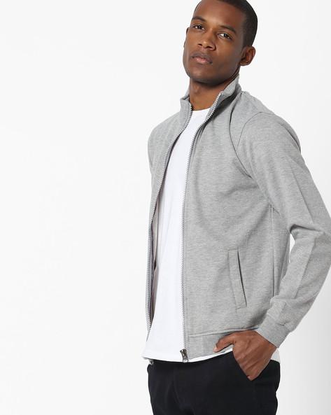 Zip-Front Fleece Sweatshirt By Fort Collins ( Grey )