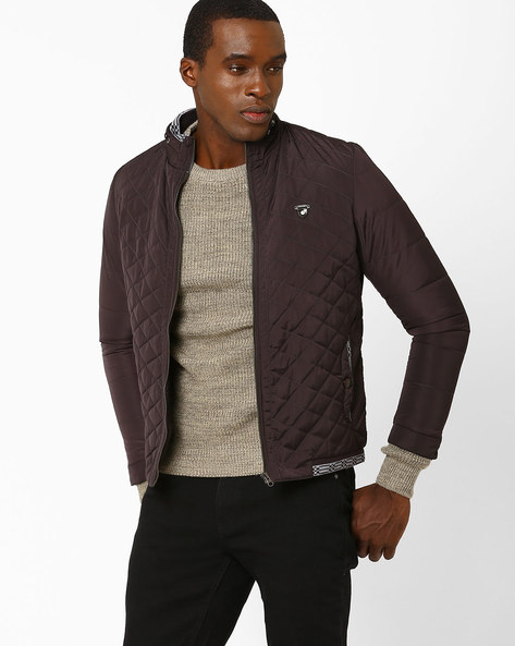 Padded Quilted Jacket By Fort Collins ( Black )