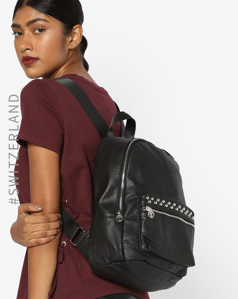 Textured Backpack With Embellishments By TALLY WEiJL ( Black )