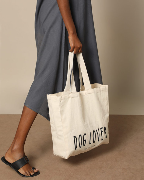 Multipurpose Cotton Canvas Tote Bag By The Art People ( White ) - 460179688001