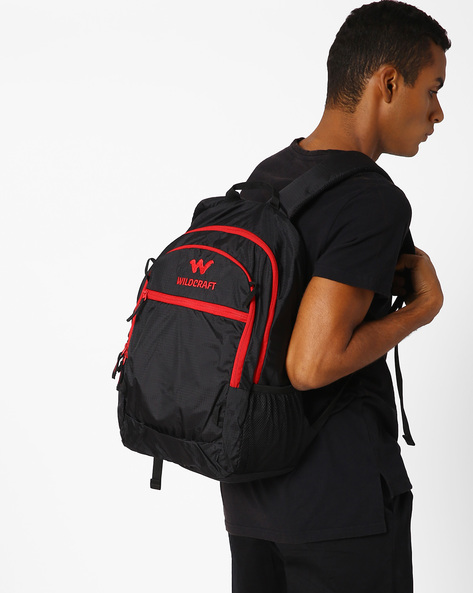 Aksa Backpack With Stash Pockets By Wildcraft ( Black )